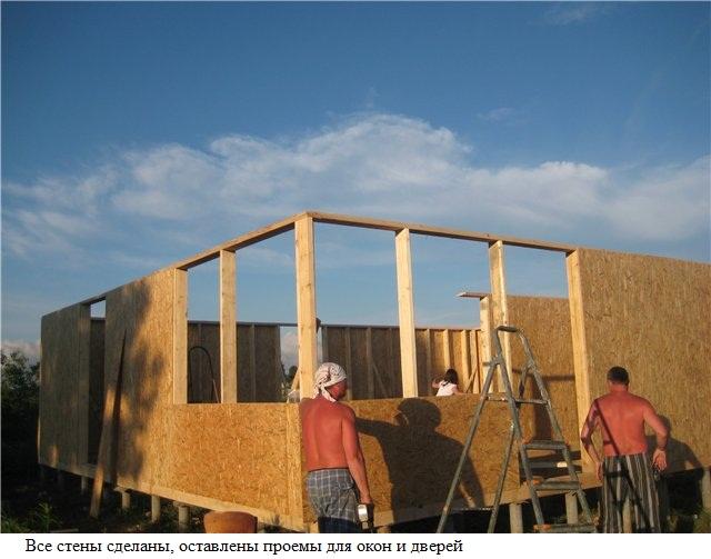 Как построить каркасный дом своими руками: видео
